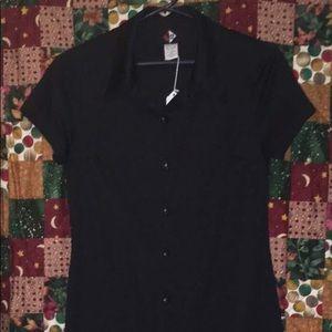 Black Buttondown Dress